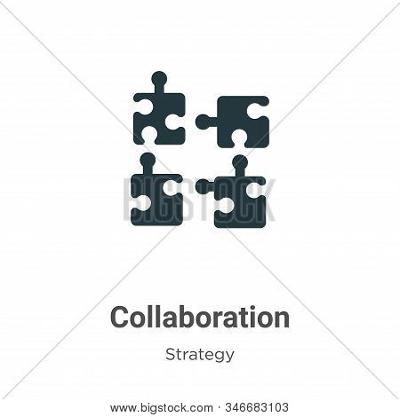 Collaboration icon isolated on white background from strategy collection. Collaboration icon trendy