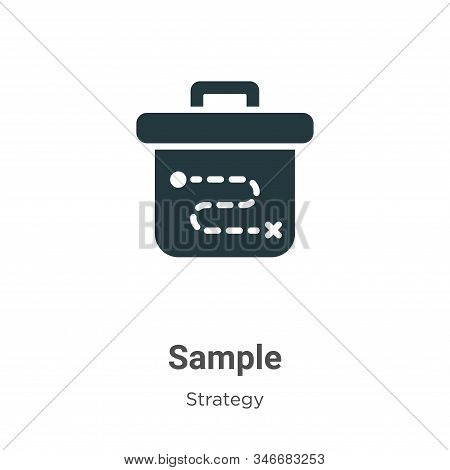 Sample icon isolated on white background from strategy collection. Sample icon trendy and modern Sam