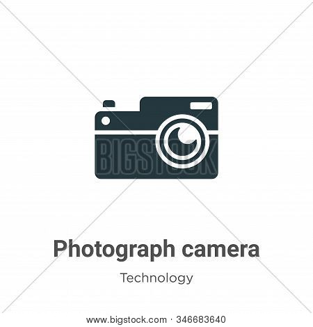 Photograph Camera Glyph Icon Vector On White Background. Flat Vector Photograph Camera Icon Symbol S