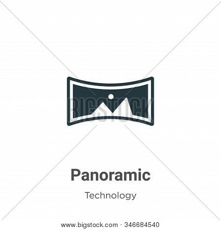 Panoramic icon isolated on white background from technology collection. Panoramic icon trendy and mo