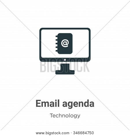 Email agenda icon isolated on white background from technology collection. Email agenda icon trendy