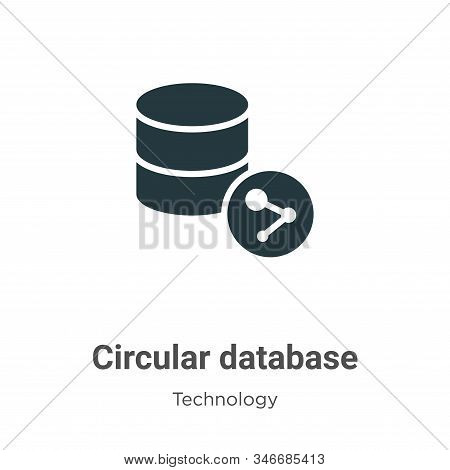 Circular database icon isolated on white background from technology collection. Circular database ic