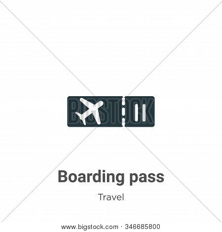 Boarding pass icon isolated on white background from travel collection. Boarding pass icon trendy an
