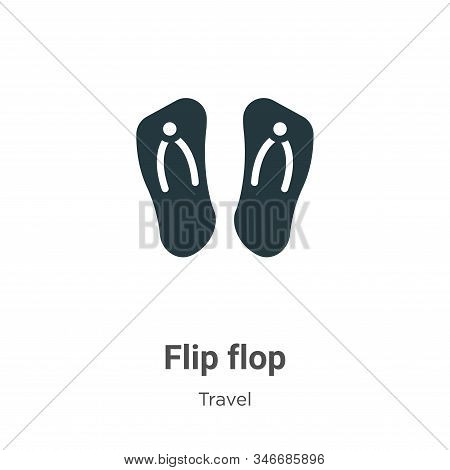 Flip flop icon isolated on white background from travel collection. Flip flop icon trendy and modern