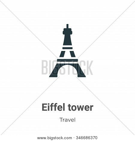 Eiffel tower icon isolated on white background from travel collection. Eiffel tower icon trendy and