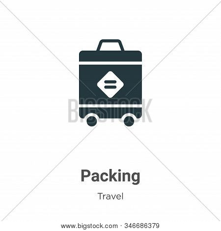 Packing icon isolated on white background from travel collection. Packing icon trendy and modern Pac