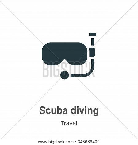 Scuba Diving Glyph Icon Vector On White Background. Flat Vector Scuba Diving Icon Symbol Sign From M