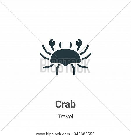 Crab icon isolated on white background from travel collection. Crab icon trendy and modern Crab symb