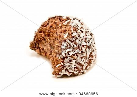 Half Eaten Chocolate Ball
