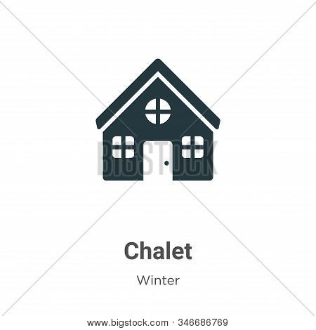 Chalet icon isolated on white background from winter collection. Chalet icon trendy and modern Chale