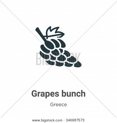 Grapes bunch icon isolated on white background from greece collection. Grapes bunch icon trendy and
