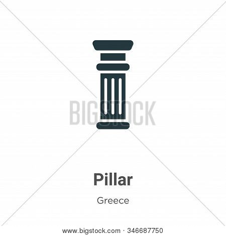 Pillar icon isolated on white background from greece collection. Pillar icon trendy and modern Pilla