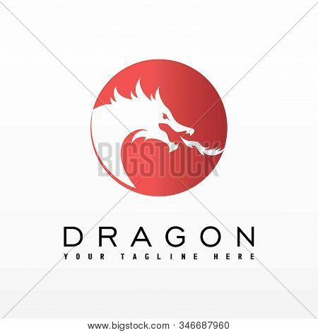 Design Shape Of A Dragon Head That Spits Fire From The Mouth
