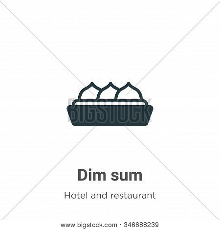 Dim Sum Glyph Icon Vector On White Background. Flat Vector Dim Sum Icon Symbol Sign From Modern Hote
