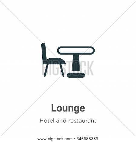Lounge icon isolated on white background from hotel and restaurant collection. Lounge icon trendy an