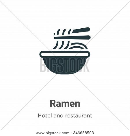 Ramen icon isolated on white background from hotel and restaurant collection. Ramen icon trendy and
