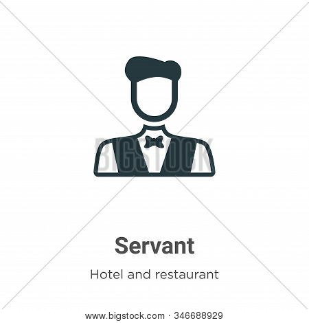 Servant Glyph Icon Vector On White Background. Flat Vector Servant Icon Symbol Sign From Modern Hote