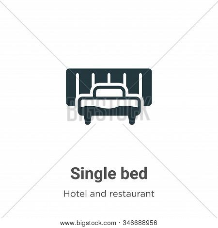 Single bed icon isolated on white background from hotel and restaurant collection. Single bed icon t