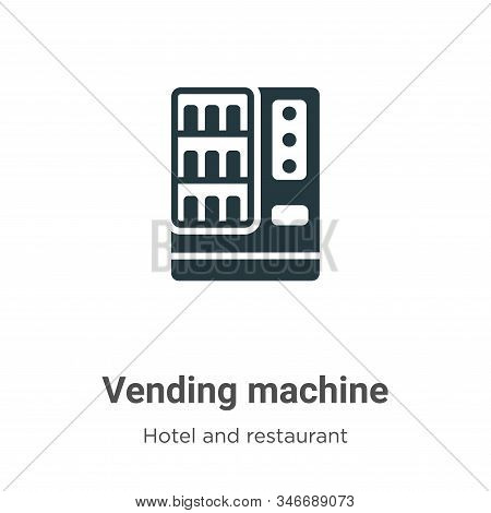 Vending machine icon isolated on white background from hotel and restaurant collection. Vending mach