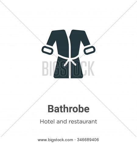 Bathrobe icon isolated on white background from hotel collection. Bathrobe icon trendy and modern Ba