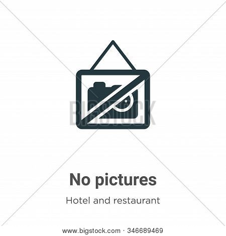 No pictures icon isolated on white background from hotel collection. No pictures icon trendy and mod