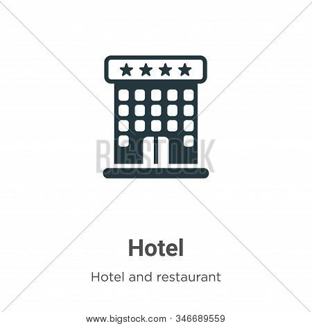 Hotel icon isolated on white background from hotel collection. Hotel icon trendy and modern Hotel sy