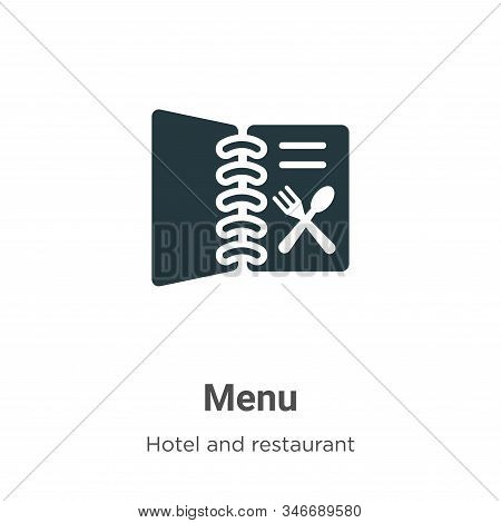 Menu icon isolated on white background from hotel collection. Menu icon trendy and modern Menu symbo