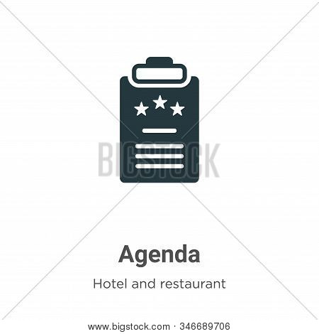 Agenda icon isolated on white background from hotel collection. Agenda icon trendy and modern Agenda