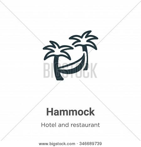 Hammock icon isolated on white background from hotel collection. Hammock icon trendy and modern Hamm