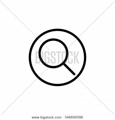 Black Line Icon For Search Ios Information Glass Magnifier Interface Detective Magnifying-glass