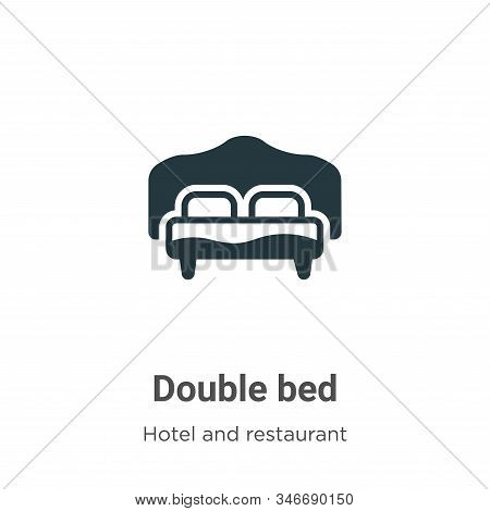 Double bed icon isolated on white background from accommodation collection. Double bed icon trendy a