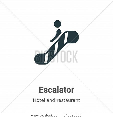 Escalator icon isolated on white background from accommodation collection. Escalator icon trendy and