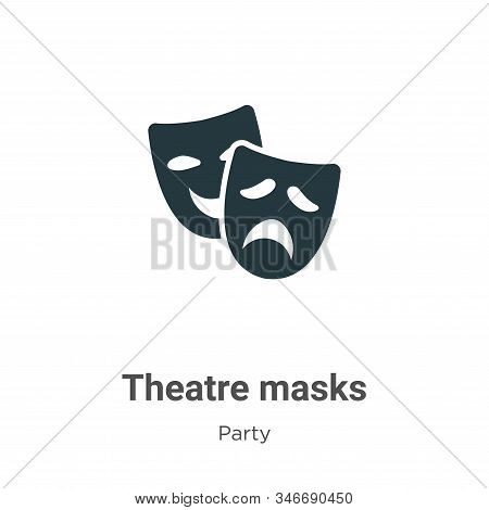 Theatre masks icon isolated on white background from party collection. Theatre masks icon trendy and