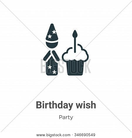 Birthday wish icon isolated on white background from party collection. Birthday wish icon trendy and