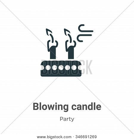Blowing candle icon isolated on white background from party collection. Blowing candle icon trendy a