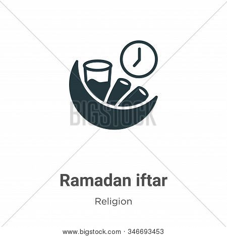 Ramadan iftar icon isolated on white background from religion collection. Ramadan iftar icon trendy