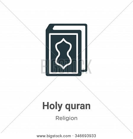 Holy quran icon isolated on white background from religion collection. Holy quran icon trendy and mo