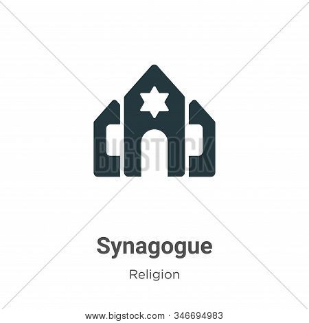 Synagogue icon isolated on white background from religion collection. Synagogue icon trendy and mode