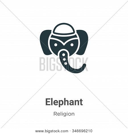 Elephant icon isolated on white background from religion collection. Elephant icon trendy and modern