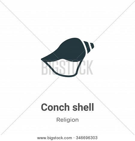 Conch shell icon isolated on white background from religion collection. Conch shell icon trendy and