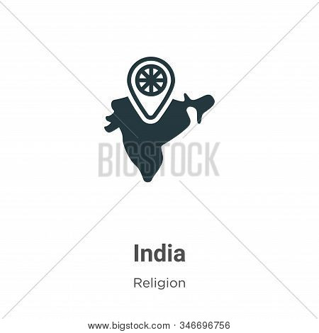India icon isolated on white background from religion collection. India icon trendy and modern India