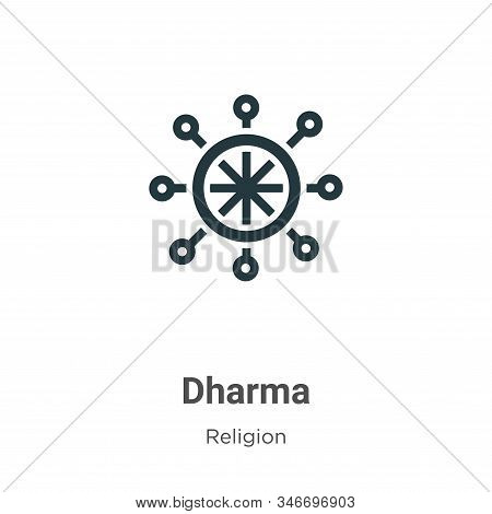 Dharma icon isolated on white background from religion collection. Dharma icon trendy and modern Dha