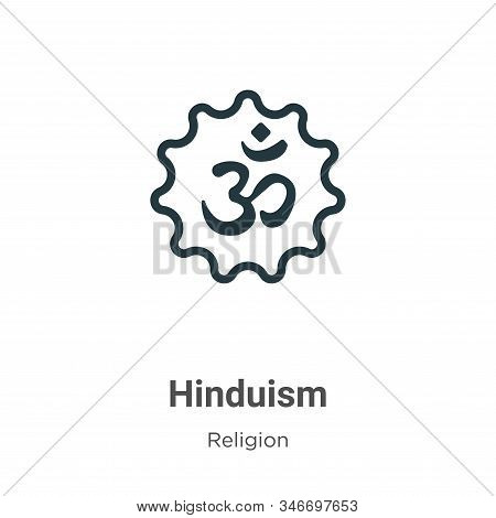 Hinduism icon isolated on white background from religion collection. Hinduism icon trendy and modern
