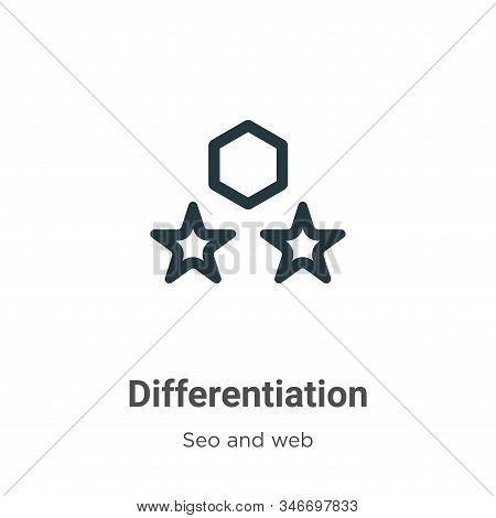 Differentiation Glyph Icon Vector On White Background. Flat Vector Differentiation Icon Symbol Sign