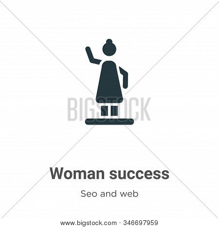 Woman success icon isolated on white background from seo and web collection. Woman success icon tren