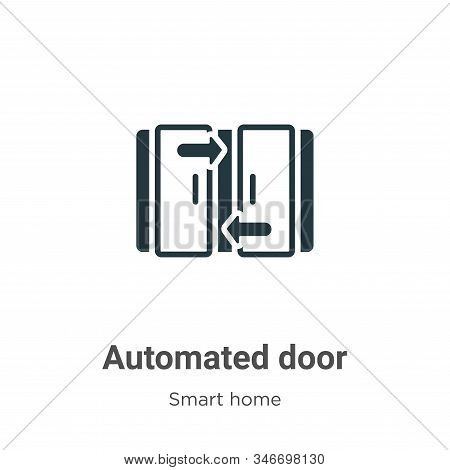 Automated door icon isolated on white background from smart home collection. Automated door icon tre