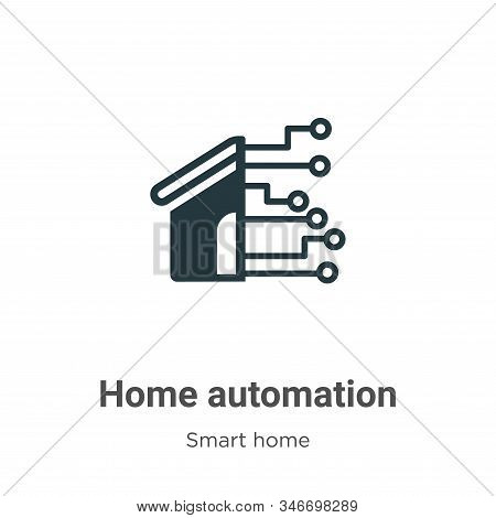Home automation icon isolated on white background from smart home collection. Home automation icon t