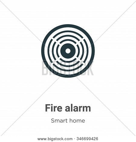 Fire Alarm Glyph Icon Vector On White Background. Flat Vector Fire Alarm Icon Symbol Sign From Moder