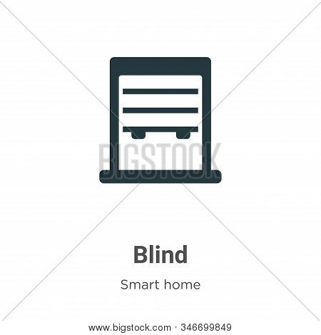 Blind Glyph Icon Vector On White Background. Flat Vector Blind Icon Symbol Sign From Modern Smart Ho