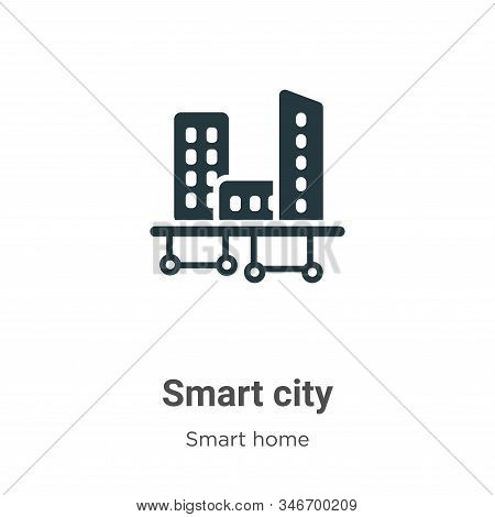 Smart city icon isolated on white background from smart house collection. Smart city icon trendy and